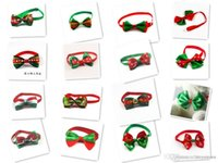 Wholesale 100pc Christmas Holiday Dog Bow Ties Cute Neckties Collar Pet Puppy Dog Cat Ties Accessories Grooming Supplies
