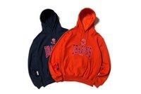 homens alaranjados do hoodie venda por atacado-Orange Ribbon Paris Garça Preston Hoodies Homens Dragão Chinês Estilo Oversize 1: 1 HP Crane Heron Preston Camisolas Dos Homens