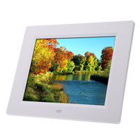 Wholesale lcd digital photo card resale online - Camera Digital Photo Frames Hot sale Photo Frame Ultrathin HD TFT LCD Digital Picture Frame Alarm Clock MP3 MP4 Movie Player