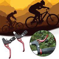 ingrosso v frena la bicicletta-Manico del freno per bicicletta in alluminio leggero con freno a V Mountain bike Leva del freno per bicicletta Bicicletta a 2 dita BMX 4 colori
