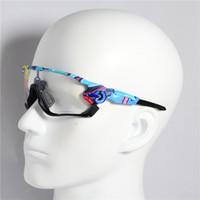 lunettes de soleil cyclistes ovales achat en gros de-sports de lunettes d'équitation photochromiques en plein air 3 pièce miroir de conduite en cours d'exécution lunettes vélo