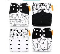 Wholesale happy baby cloth diapers resale online - 4Pcs U PICK Happy Flute Newborn Baby Diaper NB Pocket Cloth Diapers Bamboo Charcoal Inner Waterproof PUL Outer Double Gussets