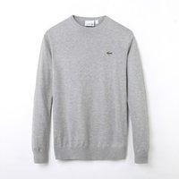 abrigo de niño de moda al por mayor-Nueva marca de moda de alta calidad primavera polo de la aguja torcida del niño # 76ACOSTE Suéter de punto de algodón O-cuello Suéter Suéter Suéter grils abrigo
