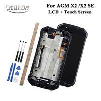 x2 mobil toptan satış-AGM X2 X2 SE Için ocolor LCD Ekran ve Dokunmatik Ekran Ile çerçeve + Araçları Ve Yapıştırıcı Için AGM LCD Cep Telefonu aksesuarları