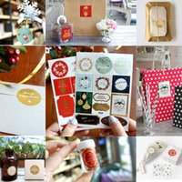 Wholesale paper tags sticker for sale - Group buy 2pcs Christmas Decoration Gift Paper Stickers Diy Gift Tags Labels For New Year Presents Scrapbooking Post For Home Decor