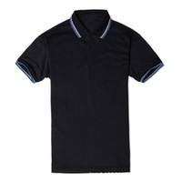 polo de poliester al por mayor-Nueva camisa de verano para hombre marca de polo diseñador de ocio camiseta para hombre pantalones cortos de poliéster sólido casual ropa deportiva suelta s-4xl