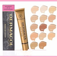 ingrosso coperture calde ups-DERMACOL Gold tube DC Concealer High Quality Hot 14 colori Make up Cover Extreme Face Face Waterproof Cream Liquid trucco per il viso