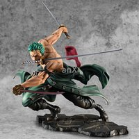 Wholesale 4 Styles Anime One Piece Fugure Model New world Roronoa Zoro Straw hat Classic battle PVC Action Figure Collectible Gift Toy CX200612