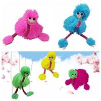 dolmalık palyaço oyuncakları toptan satış-5 Renkler 36 cm Dekompresyon Oyuncak Kukla Bebek Muppets Hayvan Muppet El Kuklaları Oyuncaklar Peluş Devekuşu Parti Favor