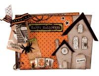 ingrosso foto di combinazione-Casa di Halloween Metallo Die Cutting Muore per DIY Scrapbooking Photo Album Decor Template 3D Goffratura 14,5x18cm