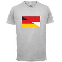 мужские рубашки германия оптовых-Половина немецкий половина польский флаг-мужская футболка-Польша / Германия-13 цветов смешные бесплатная доставка мужская повседневная