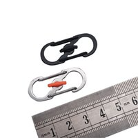 Wholesale backpacks climbs for sale - Outdoor Gadgets Stainless Steel Backpack Buckle Camp EDC Theft Prevention Type S With Lock Portable Universal Flexible sef1