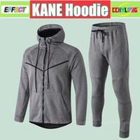 Wholesale army green suit online - 2019 KANE Jacket Hoodie Kit Survetement England RASHFORD DELE VARDY LINGARD HENDERSON Training Suit Long Sleeve Soccer Tracksuit