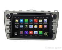 mp3 player dvr venda por atacado-Tela de toque capacitiva 100% andróide 4,4 8 polegadas carro dvd gps para Mazda 6 2008-2012 apoio DVR OBD construído em WiFi 3G com Canbus