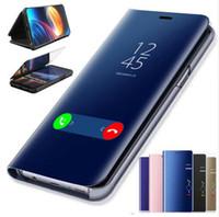 ingrosso casi di mamma huawei-Custodia a Specchio Flip per Huawei P20 P30 Lite Mate 20 10 Lite Pro Y6 Y5 Prime 2018 Custodia On Honor 10 8X 7A 7C Y9 P Smart 2019 Custodia