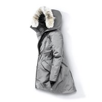 ceketler femme toptan satış-Kurt Kürk Kadınlar Kış Ceket WINDBREAKER Giyim Bayan 2019 Lüks Tasarımcı ceketler Aşağı Ceket Parka Bombacı Coats Doudoune Femme E40