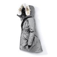 ropa de piel para mujeres al por mayor-Lobo mujeres de la piel del invierno de la chaqueta rompevientos Ropa para mujer 2019 de lujo de las chaquetas de Down Jacket Parka Bombardero Coats Doudoune Femme E40