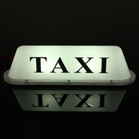 Wholesale car roof signs resale online - Car Truck Taxi Cab Sign Roof Dome LED Light Lamp Shell Base Cigarette Lighter V