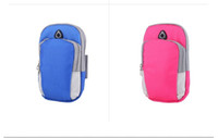 Wholesale jogging arm phone holder resale online - Sports Armband Case Cover Running Jogging Arm Band Pouch Holder Bag for inch Universal For iphone X XS Max Smart phone
