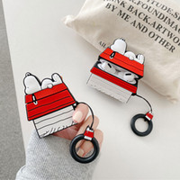 Wholesale apple ring box for sale - Group buy Silicone Case for Airpods Pro Cover Bluetooth Earphone Case for Apple Airpod Pro Cute with Ring Strap D Rooftop dog
