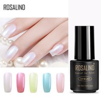 Wholesale nail uv drier resale online - ROSALIND Gel S ML Pearl Color Gel Polish Nail Art Salon UV Nail Polish Soak Off Dry With UV Lamp Varnish