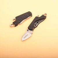 Wholesale fish bottle opener keychain for sale - Group buy New Kershaw X Cinder Plain Keychain Folding Knife Pocket Folder Bottle Opener With Retail Bag Package