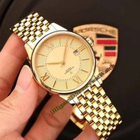 Wholesale constellations watch for sale - 2019 New CONSTELLATION mm Date Gold Dial Japan Miyota Automatic Mechanical Mens Watch Rose Gold L Steel Band Sapphire Glass Watches