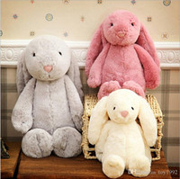 Wholesale teddy girls resale online - Easter Bunny inch cm Plush Filled Toy Creative Doll Soft Long Ear Rabbit Animal Birthday Gift
