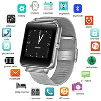 Wholesale touch screen led watch black for sale - Group buy 2018 New Stainless Steel Bluetooth Smart Watch Women Men Sport Waterproof SmartWatch LED Color Touch Screen Watch Support SIM TF