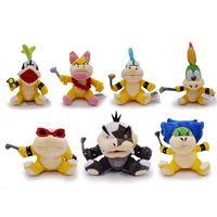 mario bowser puppe großhandel-Super Mario Bros Koopa Koopaling Plüschtiere Puppen Bowser Wendy / LARRY / IGGY / Ludwig / Roy / Morton / Lemmy O.Koopa Kinderspielzeug lol