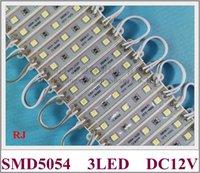 hafif asya toptan satış-LED modülü RONGJIAN (RJ) SMD 5054 LED modülü ışık işareti ve harfler için DC12V 3led 5050 ve 5730'dan daha parlak ABD ve Asya için