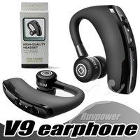 ingrosso v9 auto-V9 Business Cuffie Bluetooth Cuffie senza fili Cuffie vivavoce senza fili Auto Bluetooth V4.1 Telefono Vivavoce MIC Musica