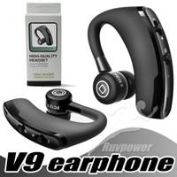 v9 araba toptan satış-V9 Iş Bluetooth Kulaklık Kablosuz Kulaklık Kablosuz Handsfree Kulaklık Araba Bluetooth V4.1 Telefon Handsfree MIC Müzik