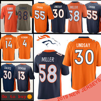 john fußball großhandel-Denver Jersey Bronco 58 Von Miller 30 Phillip Lindsay 7 John Elway 14 Courtland Sutton 55 Bradley Chubb Trikots für American Football
