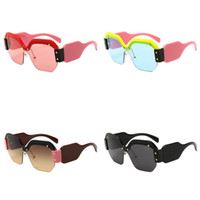 Wholesale simple glasses for sale - Group buy Sexy Rimless Sunglasses For Lady Oversized Square Sun Glass Street Pat Eyewear Wild Joker Simple Fashion New ch D1