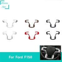 coberturas de volante de qualidade venda por atacado-Grande Volante Decoração Cobre Guarnição Apto Para Ford F150 2015 + Alta Qualidade Acessórios Interiores Do Carro