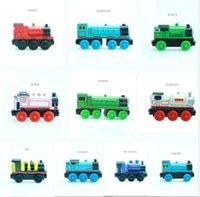 brinquedos de trem magnético venda por atacado-20 PCS Emily Madeira Trem Magnético De Madeira Trens Modelo de Brinquedo Do Carro Brinquedos Magnéticos Presente de Natal Crianças Crianças Em Forma de Madeira Thomas Tracks