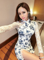 Wholesale work housing for sale - Group buy Women Sexy Bodycon Chinese Traditional Ethnic Cheongsam China Town Nightclub Tea House Working Pub Bar Cosplay Garments Clothing Dresses c1