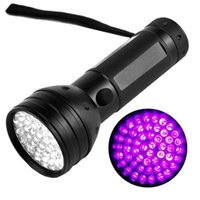 antorcha led 5w al por mayor-51 UV LED Linterna Detector de escorpiones Hunter Finder Ultra Violet Blacklight antorchas antorcha Lámpara de luz 395nm 5W