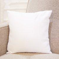 ingrosso sublimazione di calore-Calore stampa bianco sublimazione cuscino fodere per cuscino vuoto cuscino OEM 40x40 cm 45 * 45 cm senza inserto sostegno Oreiller