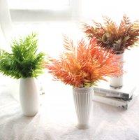 декор кленового листа оптовых-Искусственный цветок кленовый лист моделирования листья искусственный цветок микро пейзаж дома комнатное растение декор стен декоративные цветы венки бесплатно