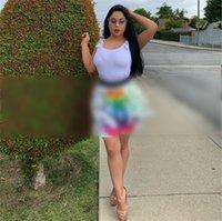 robes de soirée colorées achat en gros de-C lettres couleur robe plissée 2019 designer femme été robes marque femmes vêtements robes de soirée luxe mode jupe courte C61502