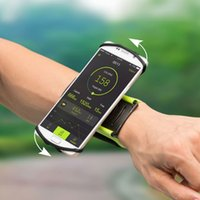 Wholesale jogging arm phone holder for sale - Group buy SzBlaZe Professional Rotatable Running Bag Wrist Band Arm cell phones Holder Sport pocket accessories For Gym Fitness Jogging