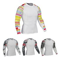Wholesale cycling clothing hot sale for sale - Group buy Men s sports running cycling fitness clothes stretch quick drying compression base long sleeved training clothes hot sale