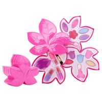 meninas compõem brinquedos venda por atacado-Princesa brinquedos meninas make up set Maple leaf Crianças Meninas Kit de Ferramentas de Maquiagem Meninas Pretendem Jogar Make Up Toys transporte rápido