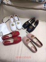 senhoras de marca calçados esportivos venda por atacado-Alta qualidade 2019 designer carta de marca sapato primavera mulheres dedo do pé Redondo correspondência apartamentos femininos senhoras fisher sapatos moda mulheres esporte sapato 04