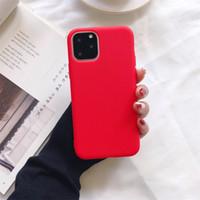 ультра тонкий корпус для iphone оптовых-Ultra Thin Дешевые конфеты цвета телефон случае для Iphone 11 Pro Max XS MAX XR X 6S 7 8 плюс