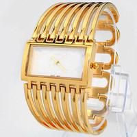 große armbänder großhandel-2019 luxus frauen uhren edelstahl weibliche uhr quarz damen armbanduhr armbanduhr lässig gurt großes zifferblatt Hohe qualität kleid uhr