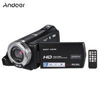 ingrosso macchina fotografica della porcellana mega-amcorders consumatori Videocamere Andoer V12 1080P videocamera Full HD 16X Zoom Digitale Videocamera registrazione w / schermo di 3,0 pollici ruotabile LCD ...