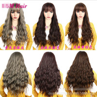 Wholesale long curly hair bangs for sale - Group buy 2019 new fashion long curly hair in the corn hot air bangs fashion realistic fluffy easy to care